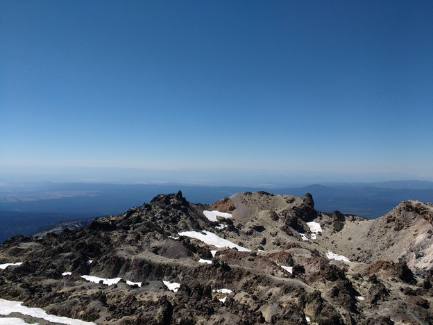The view from Lassen Peak