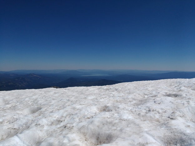 Snowfield on Lassen Peak